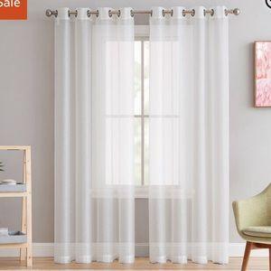 """Semi-sheer Curtain Panels 54""""x95"""" by Mercury Row"""